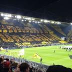 Choreo beim Champions League Spiel gegen PSG